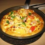 A most enjoyable seafood pizza