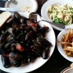 Mussels and Aglio Olio