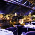 The OXO Tower Restaurant at night.