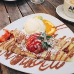 Strawberry Crepes and Strawberry Pancakes