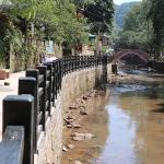 Newly constructed river walkway
