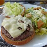 Fabulous beef burger...