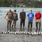 Fishing with 3 other gentlemen on the Kenai River