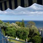 vue sur la mer et le jardin
