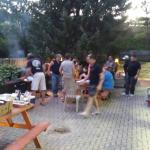 the bbq on the patio