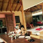 Living, diving room scene at Batik Villa