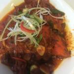 Garlic chicken chilli masala Asian style