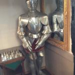 Knight in shinning armour to greet you in reception.