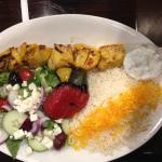 chicken kabob (half salad, half rice platter)