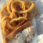 Crab Roll with onion rings