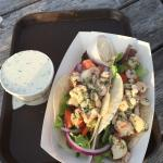 Crab roll and clam chowder