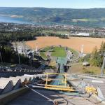 View from the top of the ski jump in Lillehammer
