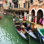 Gondolas on one of the nearby canals