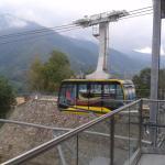 El teleférico a solo pasos del hotel