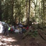 view of our 2 campsites