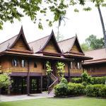 Traditional teak Thai house
