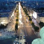 view of champs elysees from arc de triomphe