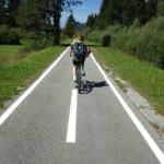 Cycling into Italy