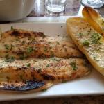 Bronzini with lemon potatoes