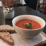 Soup of the day - pumpkin and bacon