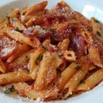 My spicy pasta dish - excellent and a huge serving!!