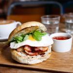breakfast bagel -yummy