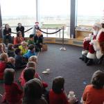 Santa telling stories at Longmont Museum