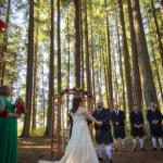 Wedding ceremony out in the forest
