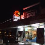 Oppie's at night