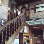 stairs up to 1st floor, note rooms on 2nd floor