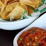 Chips & mango salsa