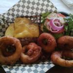 Cheeseburger and Onion Rings!