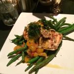 Salmon with green beans (instead of basil potatoes)