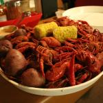 Boiled crawfish from Cajun Claws