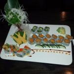 Veggies sushi and shrimp tempura roll
