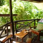 Traditional style wooden Palauan bungalows are a treat to stay in aircon, fridge, shower warm wa