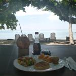 Breakfast served right at the beach! Bliss!
