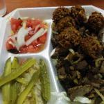 Shawarma and falafel