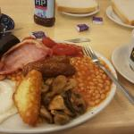 Regular breakfast with black pudding