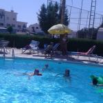 Our group in the pool