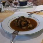 Foie gras sur pain d'épices et ris d'agneau