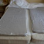 "Matress at Grand Hotel Bristol - with ""impovements"""