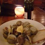 Clams in White Wine with Chorizo