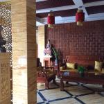 Lobby with traditional Chinese furniture
