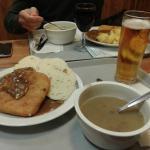 il nostro pranzo con zuppe e secondo