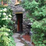 The private hidden entrance and BBQ for the Willow Suite