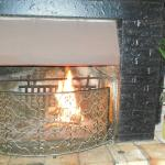open fire place for cold winter evenings