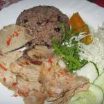 Asado de cerdo con arroz
