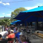 The patio at the Barking Parrot