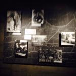 Exit corridor full of memorabilias and historical pictures